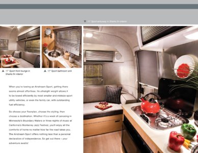 2009 Airstream Sport Brochure page 2
