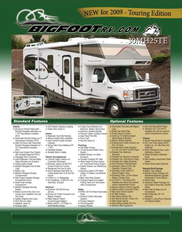 2009 Bigfoot 25MH25TE Brochure