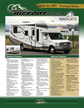 2009 Bigfoot 30MH28TE Brochure