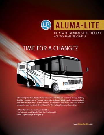 2009 Holiday Rambler Aluma Lite Brochure