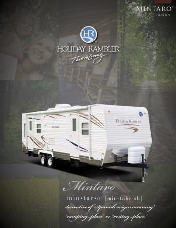 2009 Holiday Rambler Mintaro Brochure