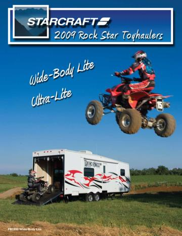 2009 Starcraft Rock Star Toyhaulers Brochure