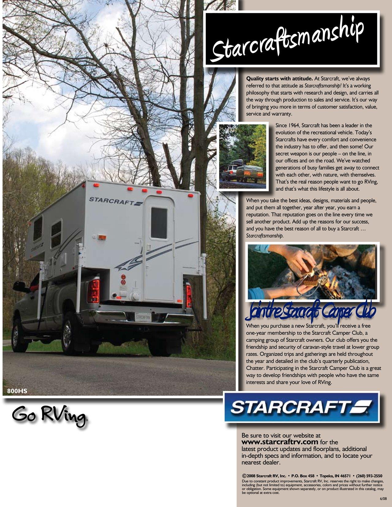 2009 Starcraft Truck Campers Brochure | Download RV brochures
