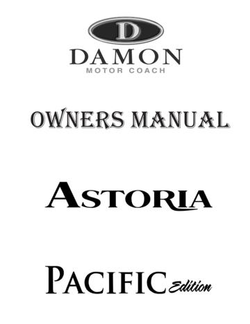 2009 Thor Astoria Owner's Manual Brochure