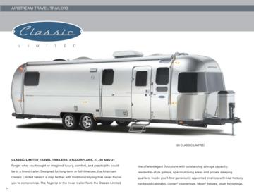 2010 Airstream Classic Limited Brochure