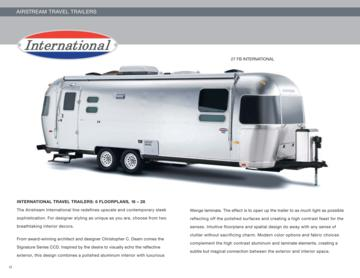 2010 Airstream International Brochure