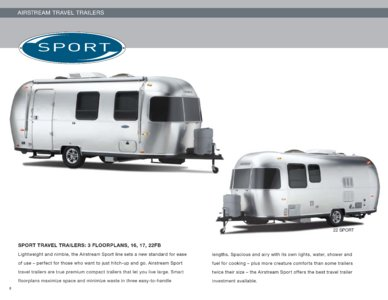 2010 Airstream Sport Brochure page 1