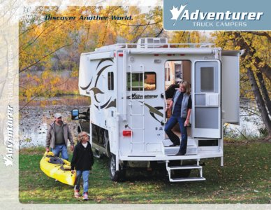 2010 ALP Adventurer Truck Campers Brochure page 1