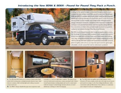 2010 ALP Adventurer Truck Campers Brochure page 9