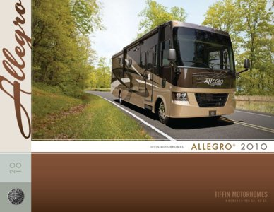 2010 Tiffin Allegro Brochure page 1