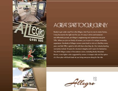 2010 Tiffin Allegro Brochure page 3
