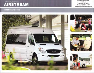 2011 Airstream Interstate 3500 Brochure