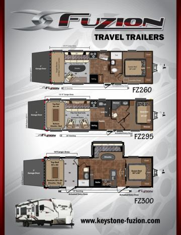 2011 Keystone RV Fuzion Travel Trailers Brochure