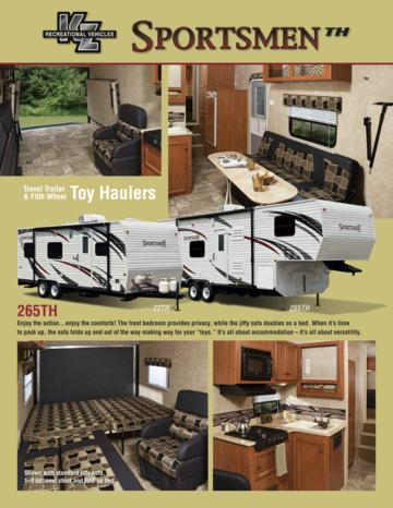 2011 KZ RV Sportsmenth Brochure