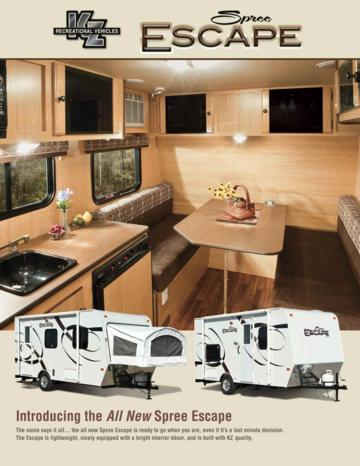 2011 KZ RV Spree Escape Brochure