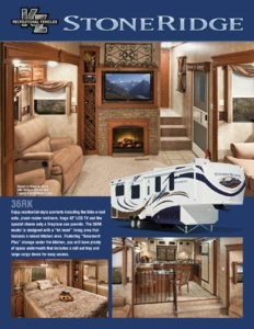 2011 KZ RV Stoneridge Brochure page 1