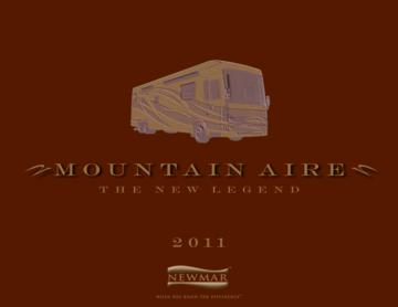 2011 Newmar Mountain Aire Brochure