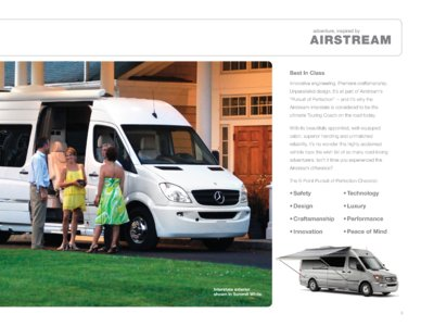 2012 Airstream Interstate 3500 Brochure page 3