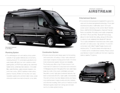 2012 Airstream Interstate 3500 Brochure page 9