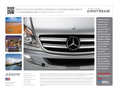 2012 Airstream Interstate 3500 Brochure page 12