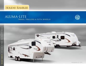 2012 Holiday Rambler Aluma Lite Travel Trailers Fifth Wheel Brochure