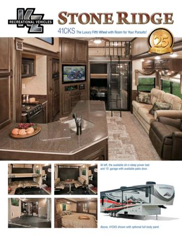 2012 KZ RV Stoneridge 41CKS Brochure