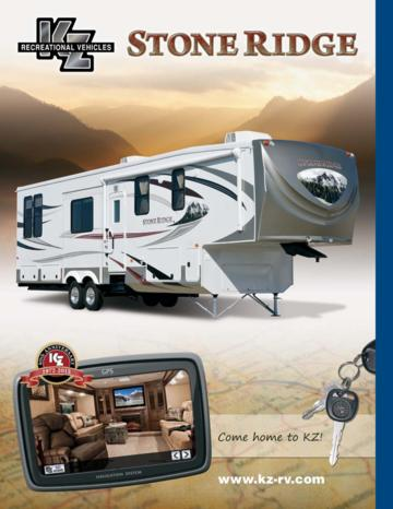 2012 KZ RV Stoneridge Brochure