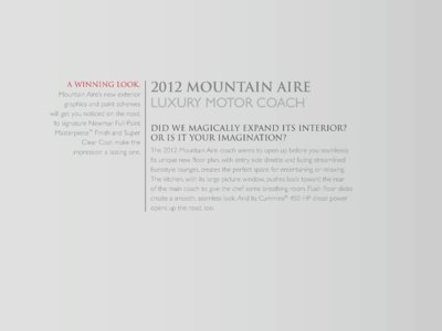 2012 Newmar Mountain Aire Brochure page 3