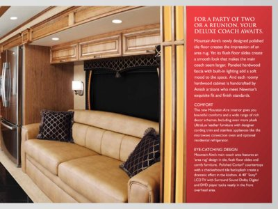 2012 Newmar Mountain Aire Brochure page 5