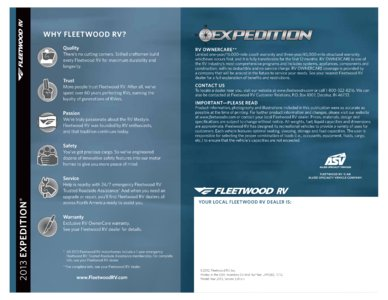 2013 Fleetwood Expedition Brochure page 8