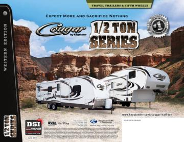 2013 Keystone RV Cougar Half Ton Series Brochure