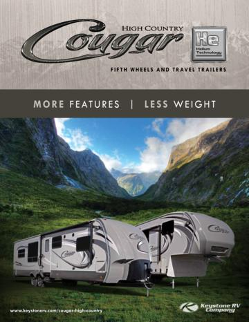2013 Keystone RV Cougar High Country Brochure