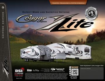 2013 Keystone RV Cougar X-Lite Eastern Edition Brochure