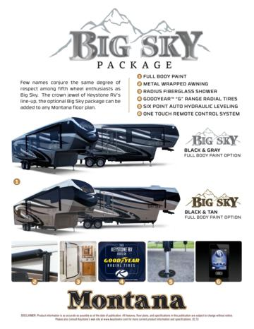 2013 Keystone Rv Montana Big Sky Package Brochure