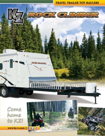 2013 KZ RV Rock Climber Brochure