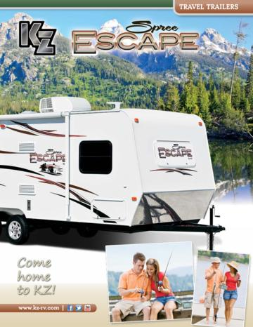 2013 KZ RV Spree Escape Brochure