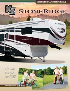 2013 KZ RV Stoneridge Brochure page 1