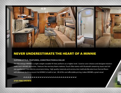 2013 Winnebago Minnie Brochure page 2