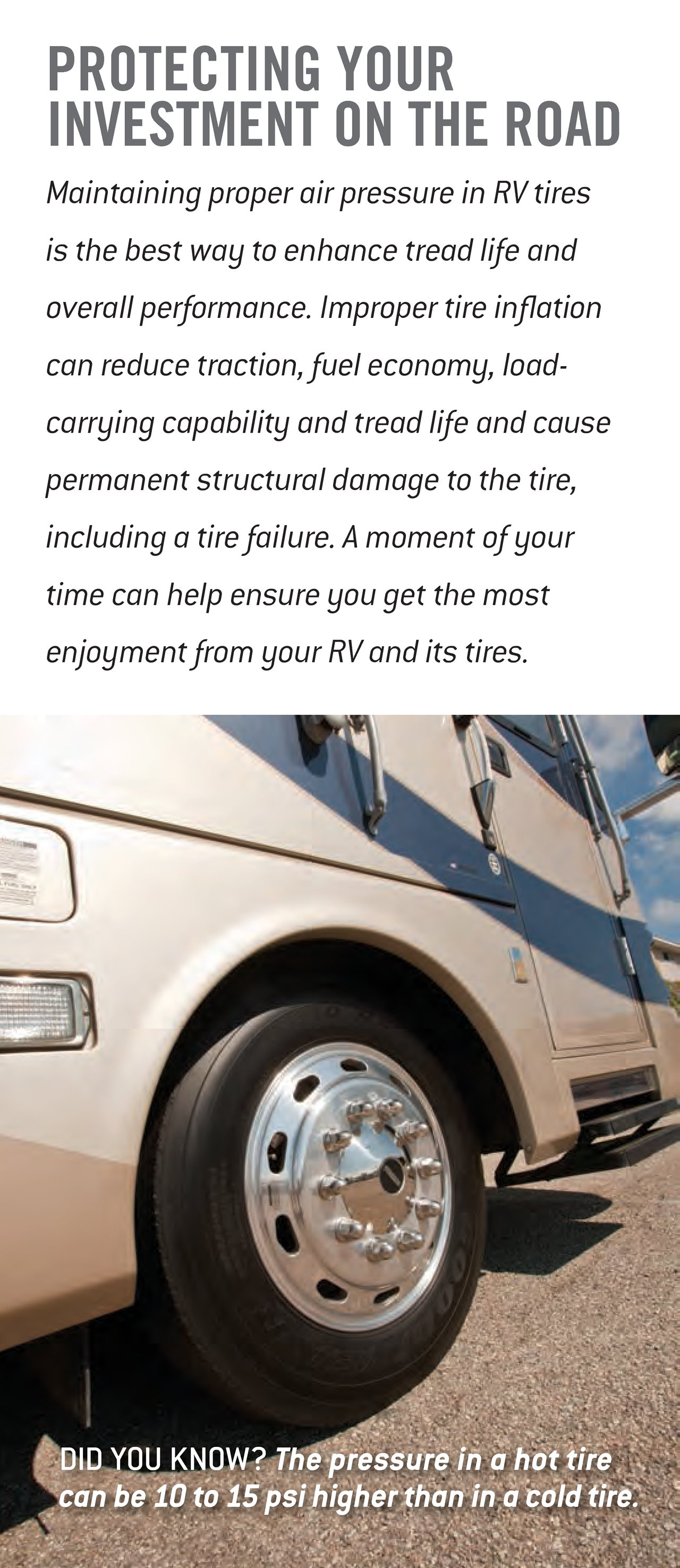 2014 Goodyear Rv Tire Maintenance And Inflation Tips Download Rv
