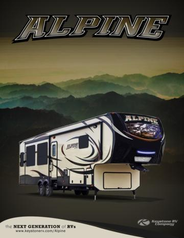 2014 Keystone Rv Alpine Brochure