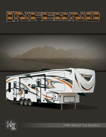 2014 KZ RV Inferno Brochure