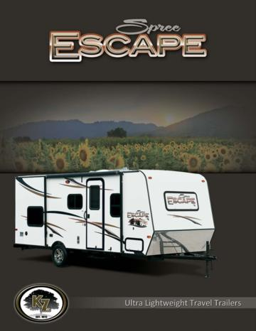 2014 KZ RV Spree Escape Brochure
