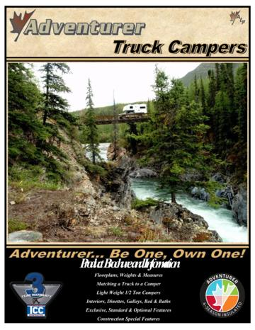 2015 ALP Adventurer Truck Campers Brochure