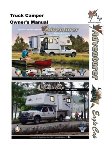 2015 ALP Truck Campers Owner's Manual