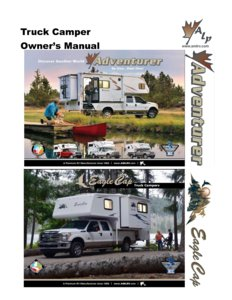2015 ALP Truck Campers Owner's Manual page 1