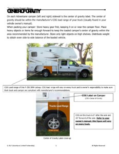 2015 ALP Truck Campers Owner's Manual page 9
