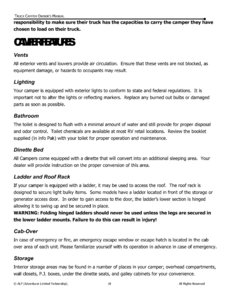 2015 ALP Truck Campers Owner's Manual page 22