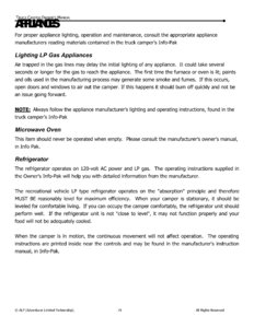 2015 ALP Truck Campers Owner's Manual page 23