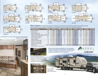 2015 Coachmen Freedom Express French Brochure page 3