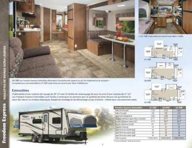 2015 Coachmen Freedom Express French Brochure page 8